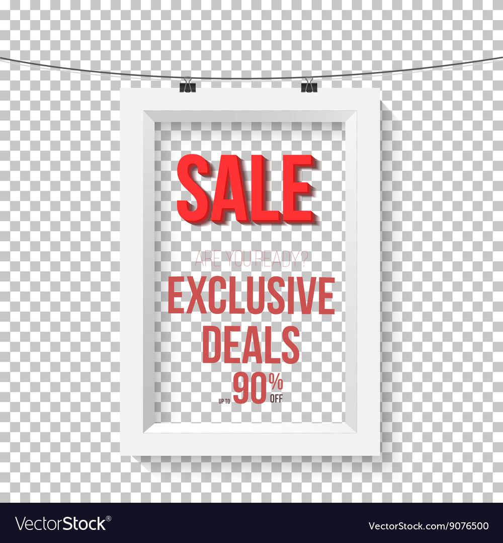 Big Sale Poster Wall Frame Mockup