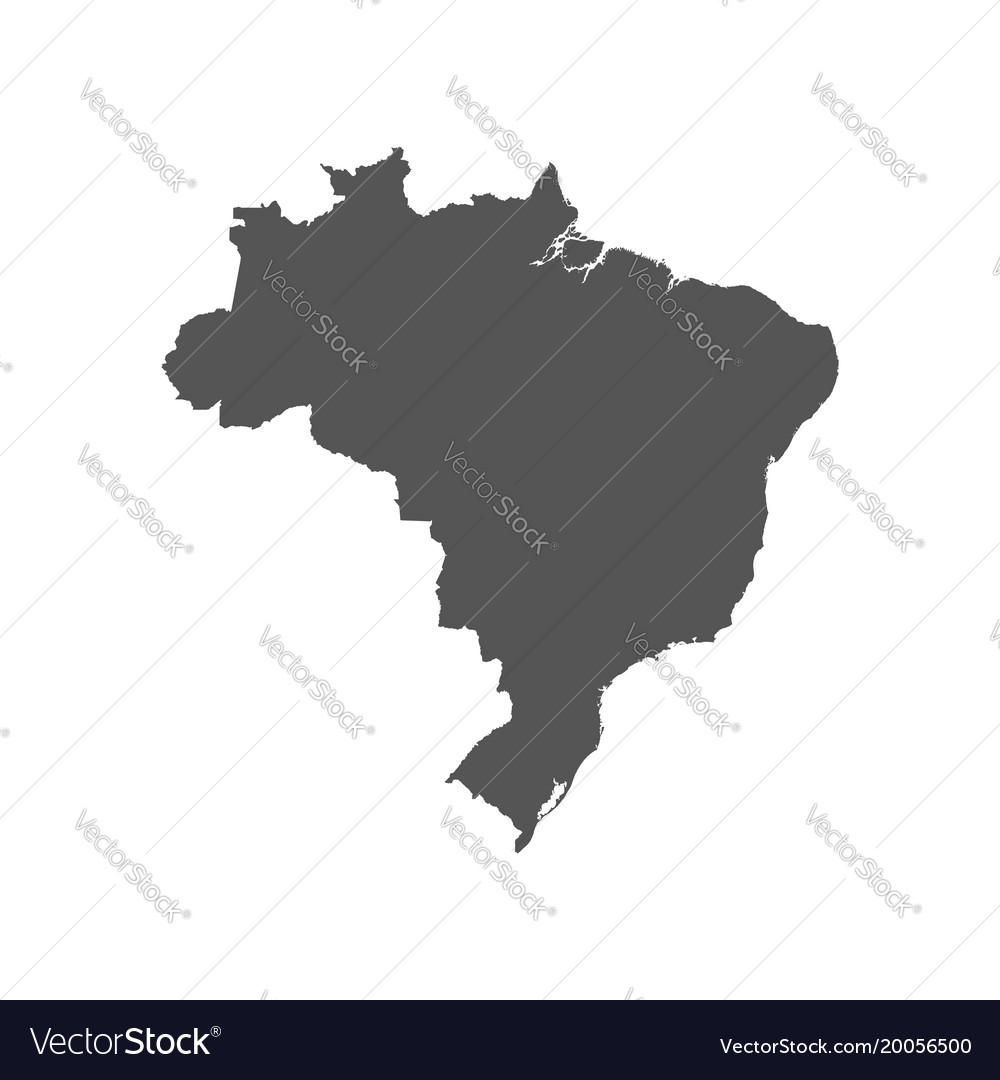 Brazil map black icon on white background vector image gumiabroncs Images