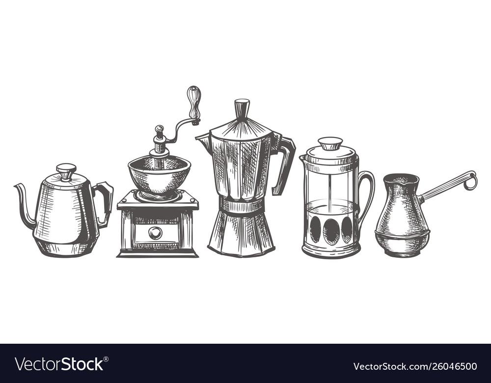 Coffee maker sketch