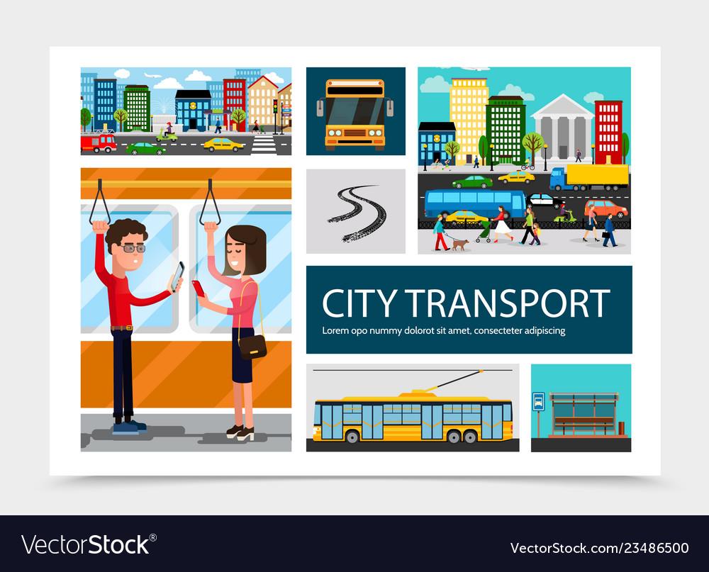 Flat city transport composition