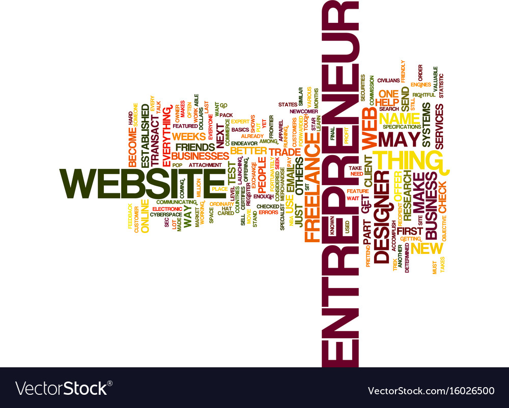 Freelance Web Designer Text Background Word Cloud