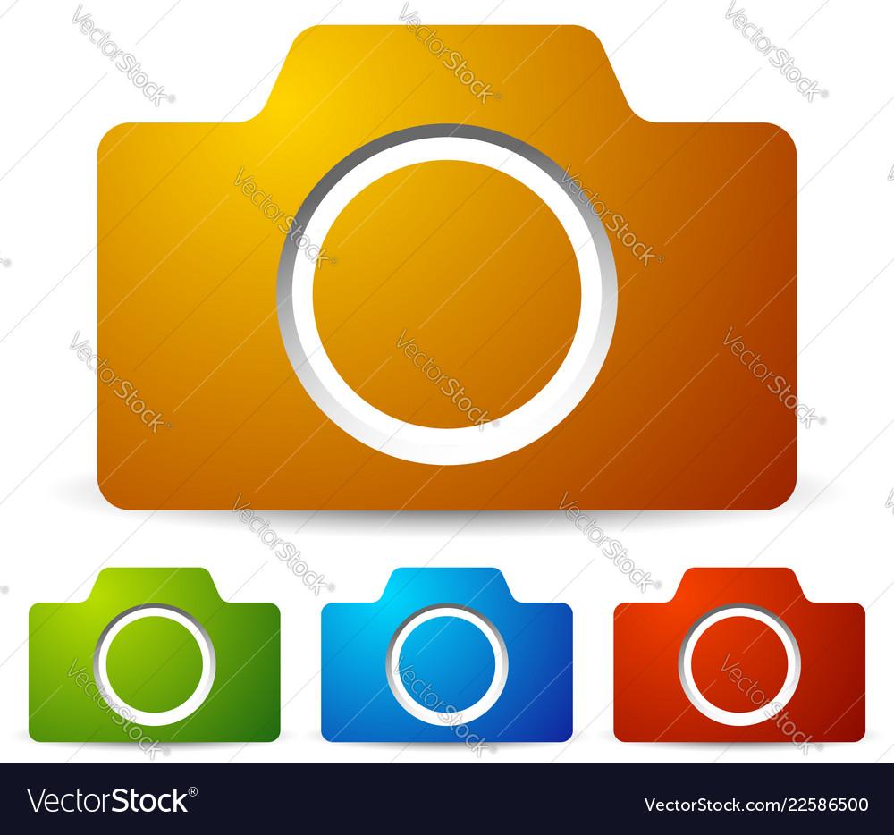Icons with photo camera camera symbol