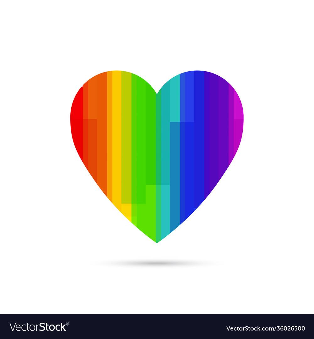 Lgbt symbol rainbow heart