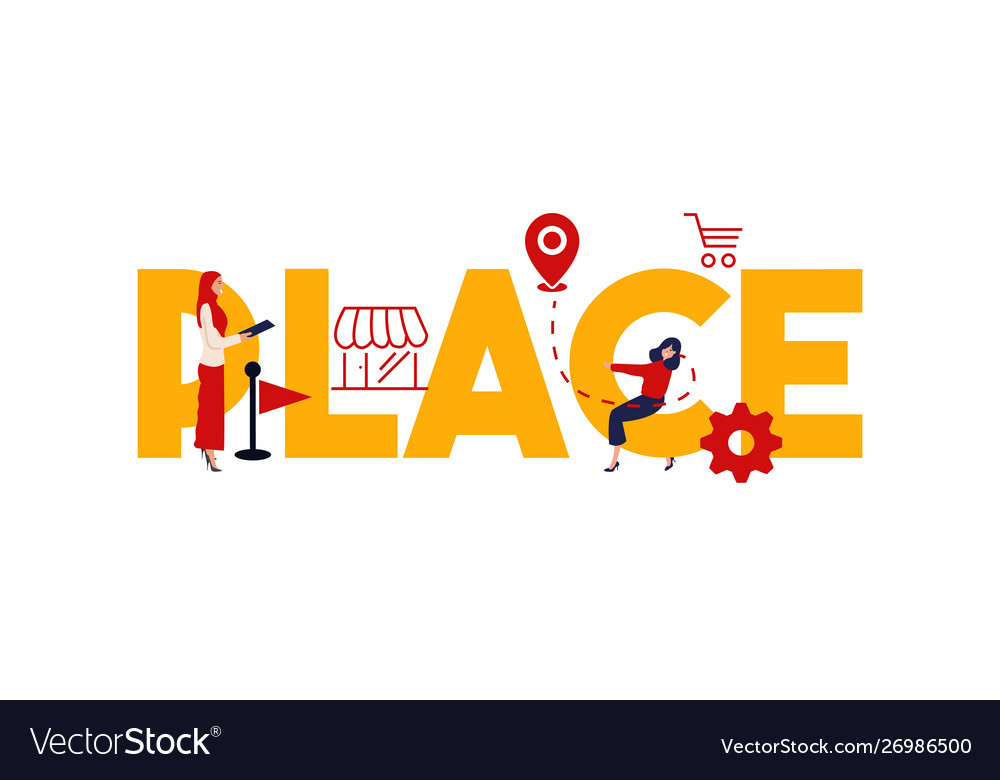 marketing place mix strategy vector royalty