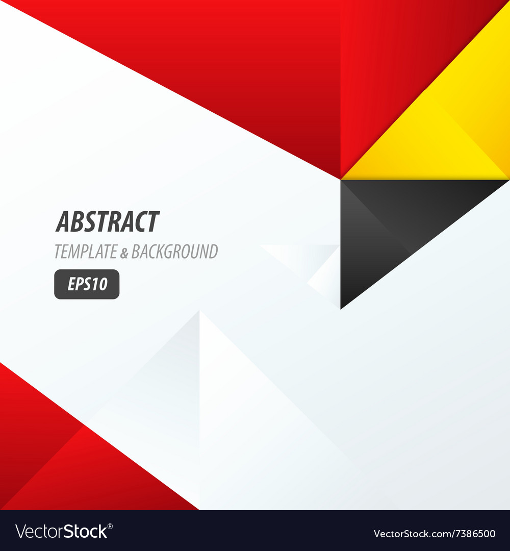 Template Triangle Yellow Black Red