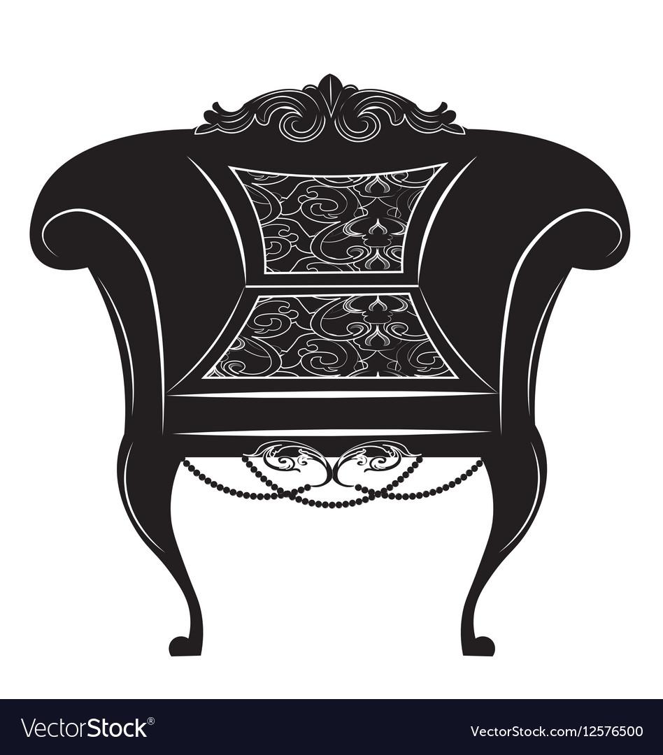 Vintage Baroque Imperial armchair vector image