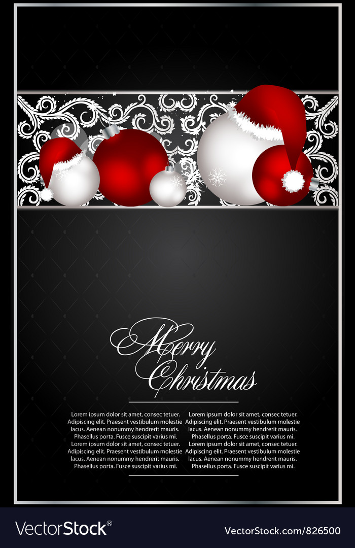 Xmas card for design vector image