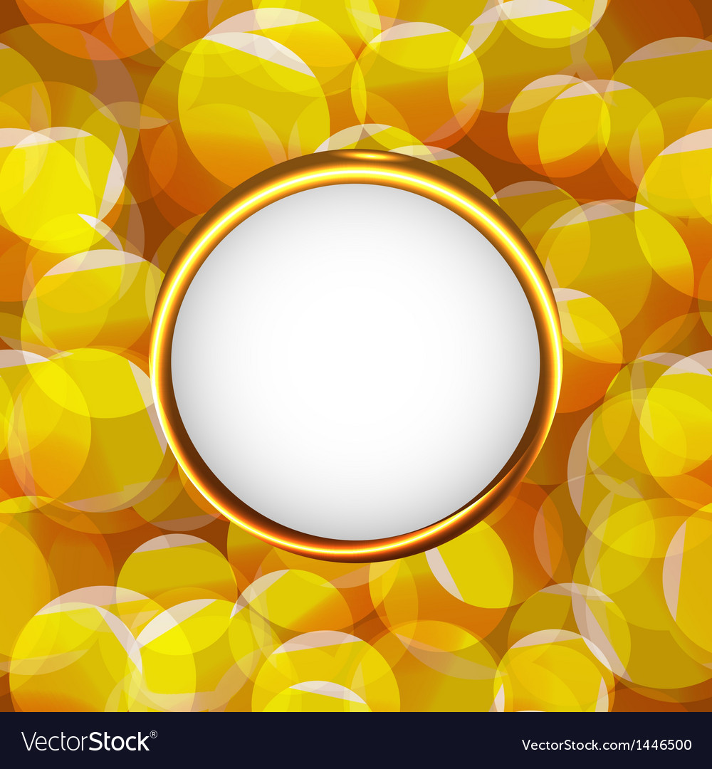 Yellow photo frame vector image