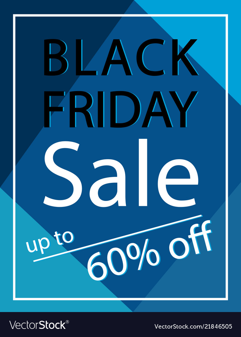 60 percent off black friday sale poster