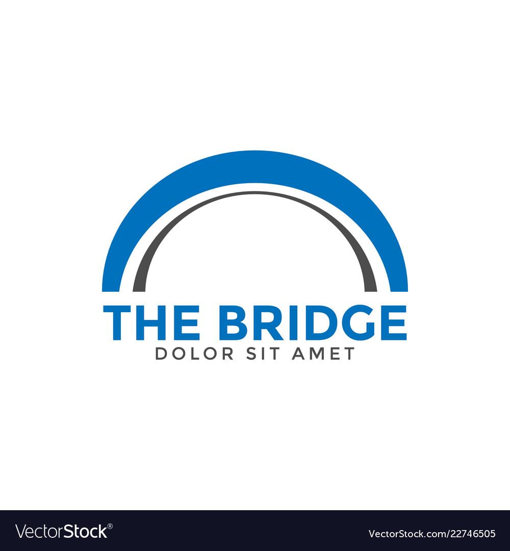 Abstract bridge graphic design template