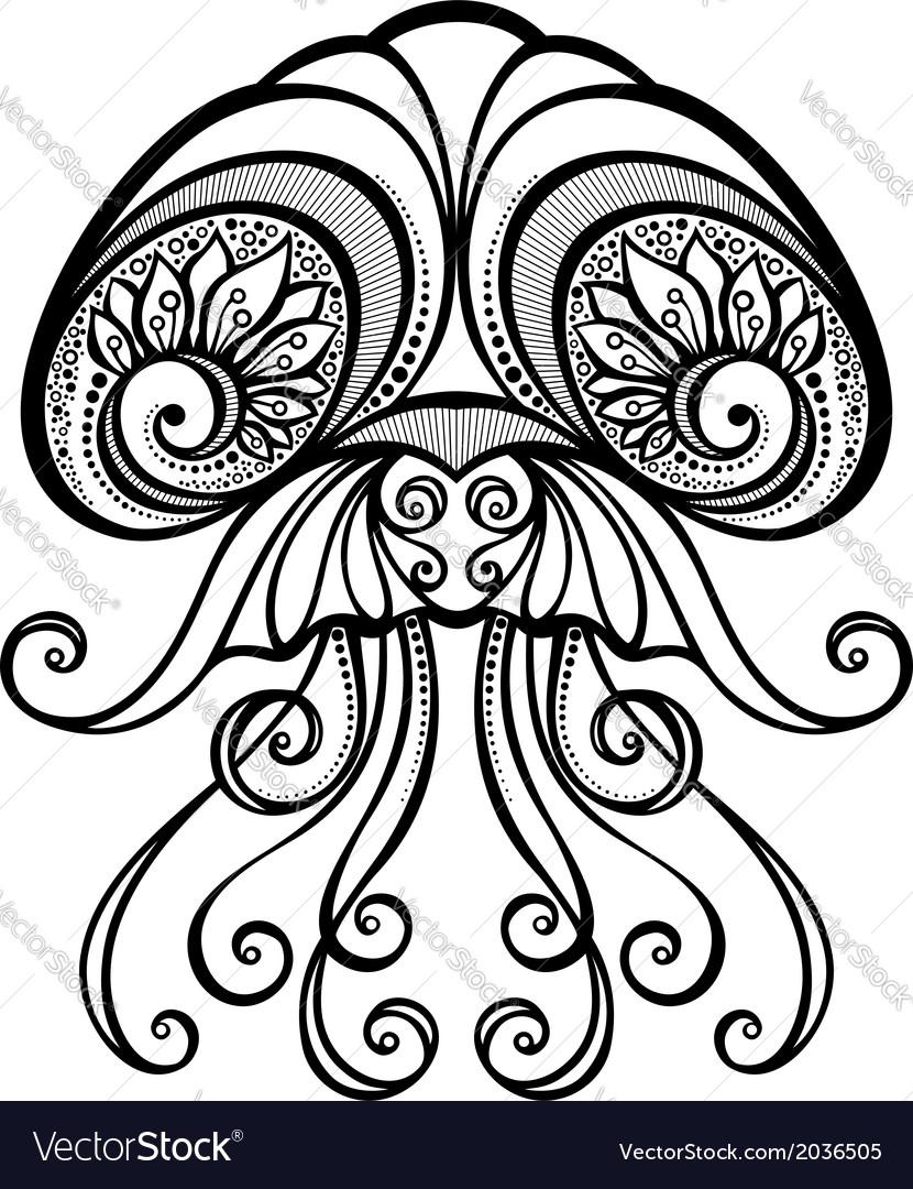 Abstract Sea Jellyfish