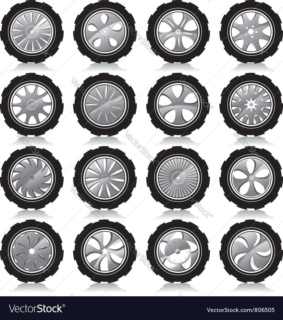 Alloy wheel black
