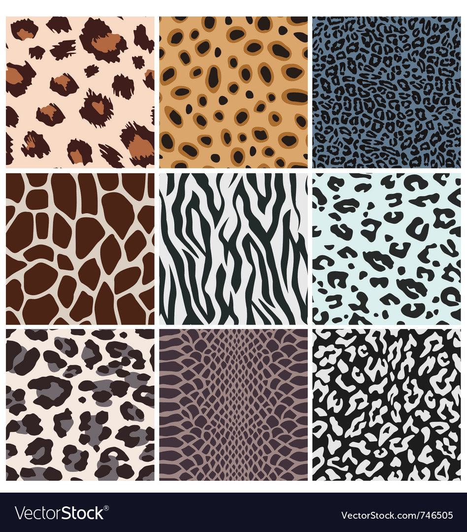 Animal skin seamless pattern vector