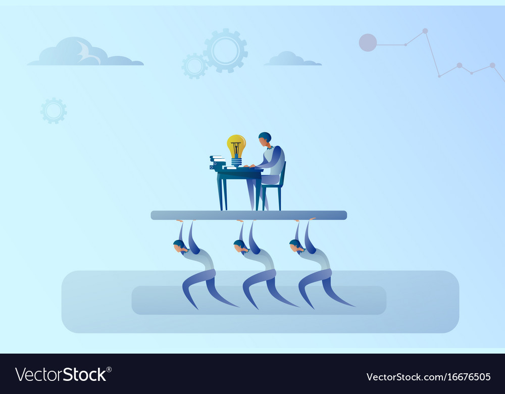 Business people team carry boss businessman vector image