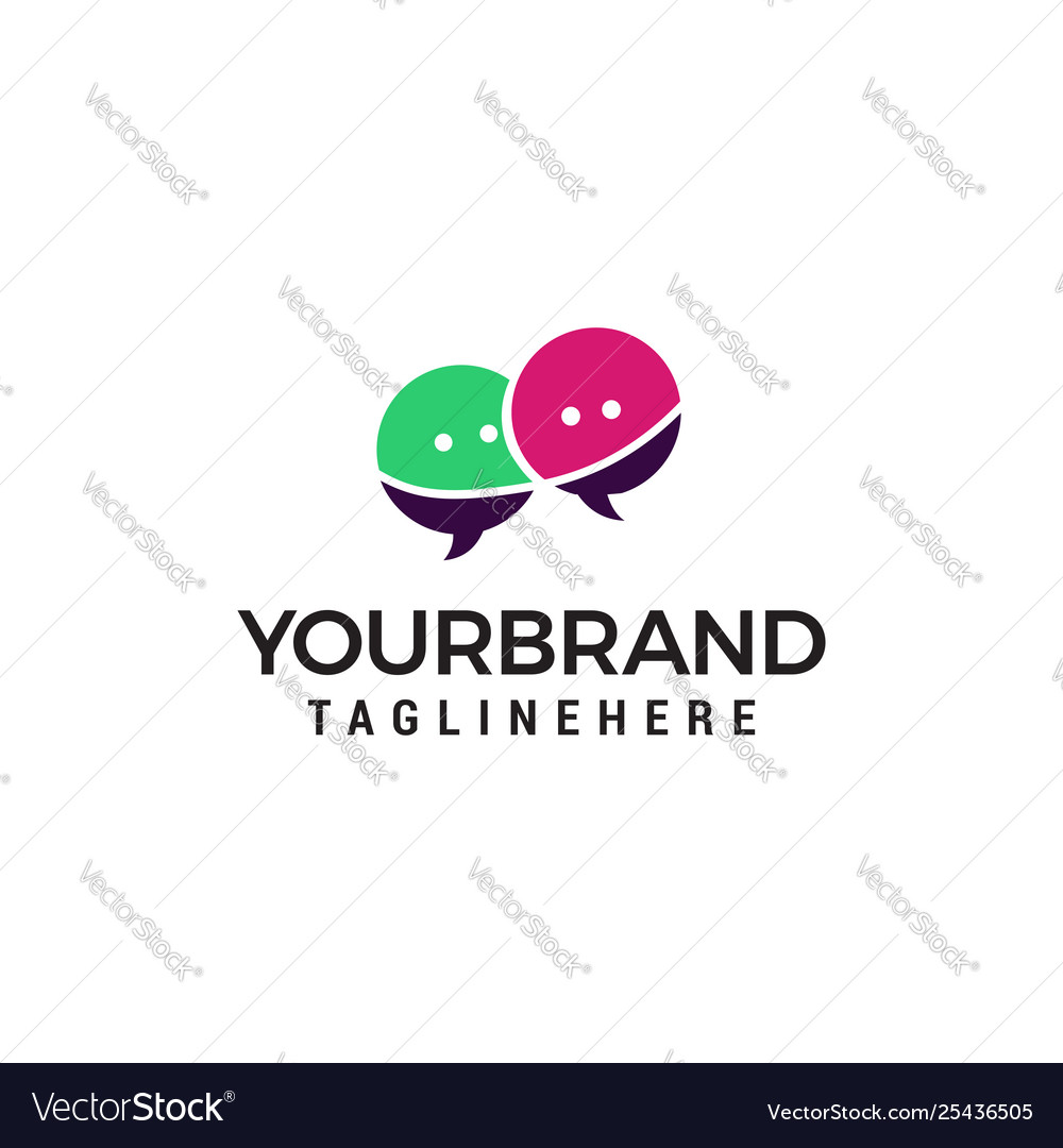 Chat logo design concept template