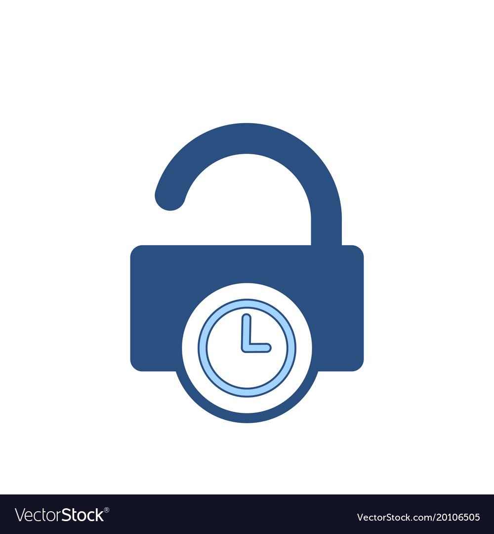 Delay lock padlock password secure time icon
