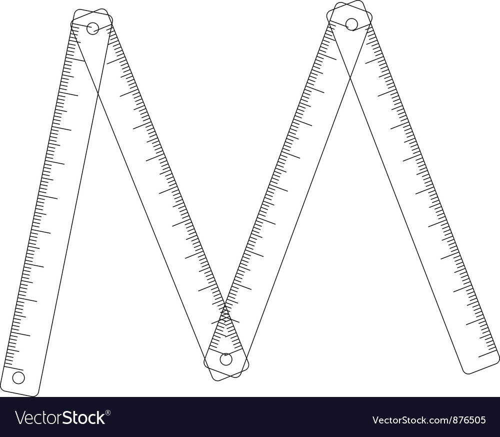 Folding ruler on white background vector image