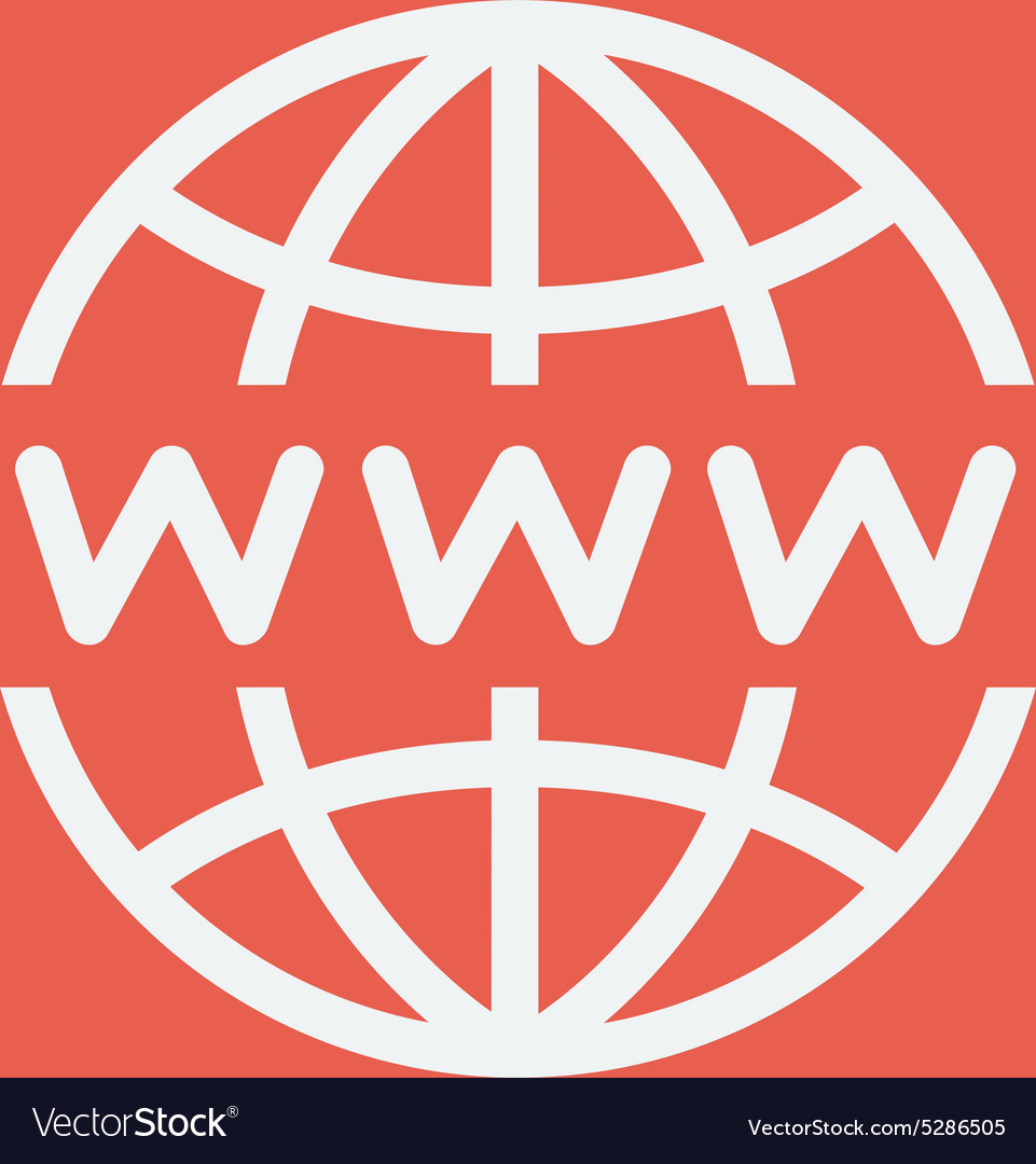 Globe with website design thin line icon