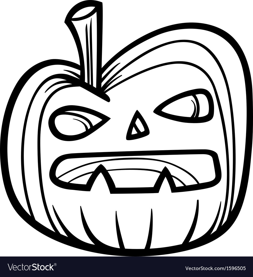 halloween pumpkin for coloring book royalty free vector