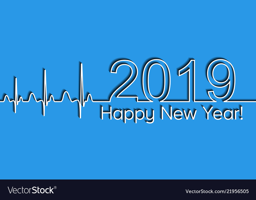 Medical christmas banner 2019 happy new year