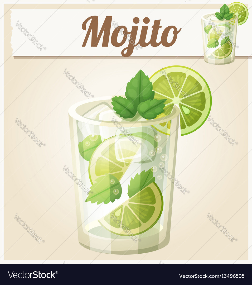 Mojito cartoon icon