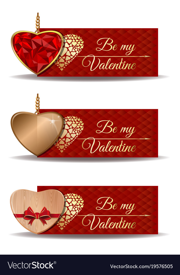 Red banners set for valentines day