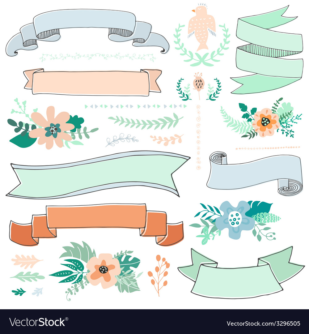 Romantic Collection vector image