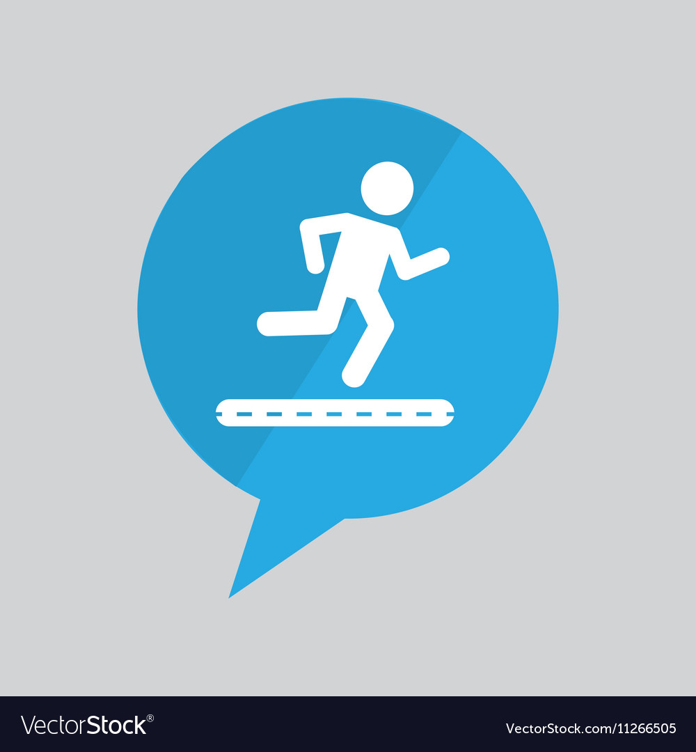 Sign running jogging person pin design