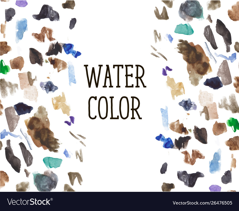 Watercolor stains background color brush pattern