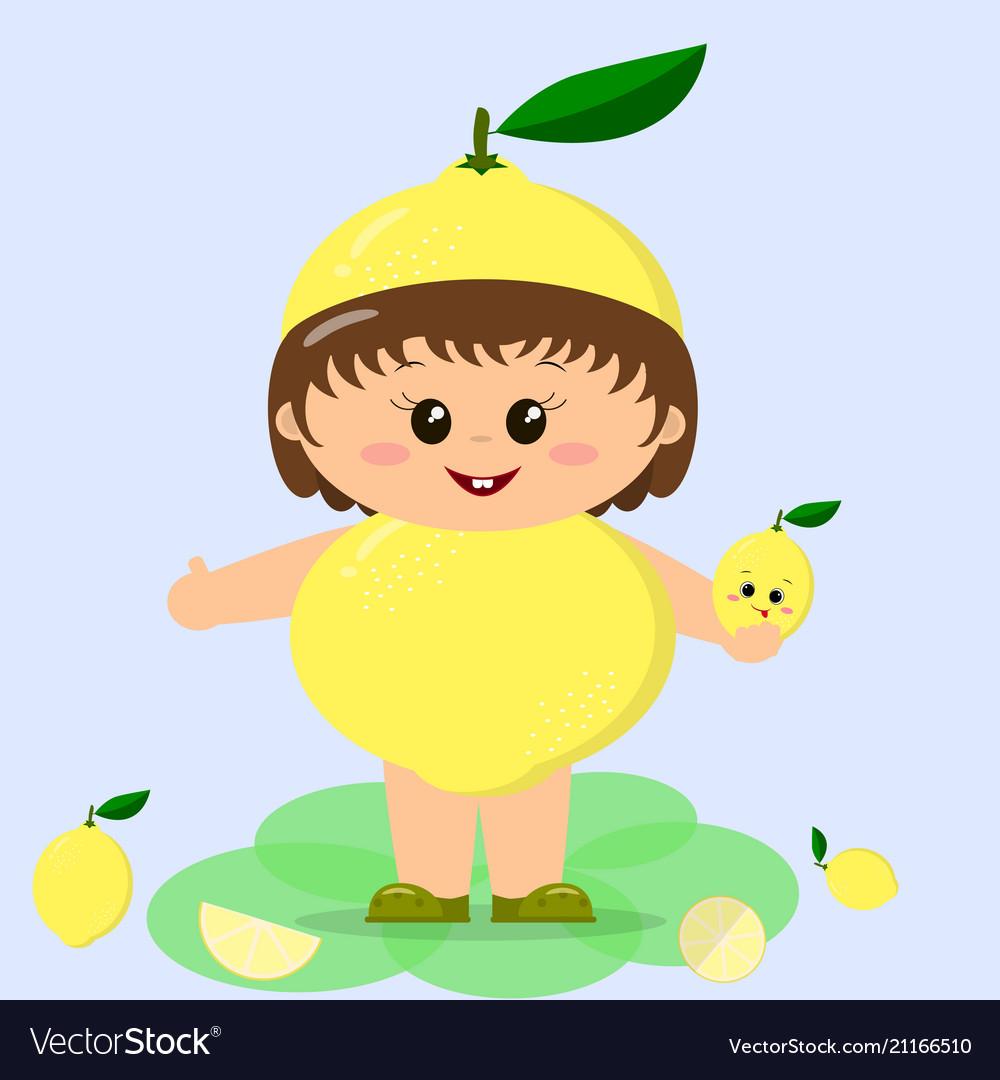 Baby in a lemon costume