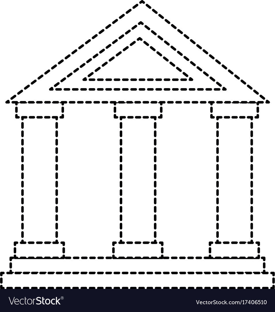 Building with columns icon