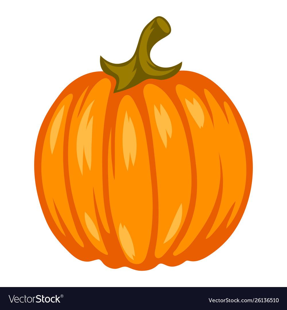 Cartoon ripe pumpkin