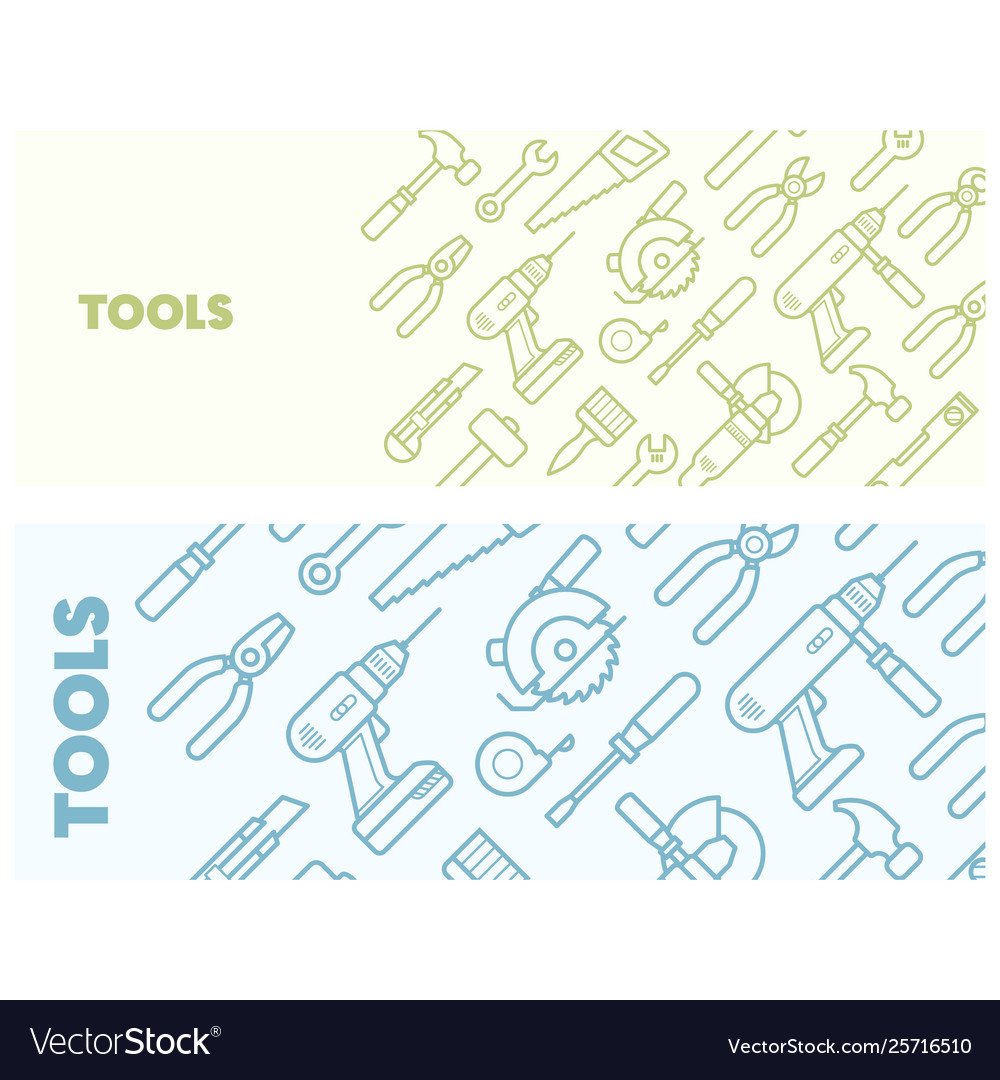 Pattern with construction tools icons - tools kit