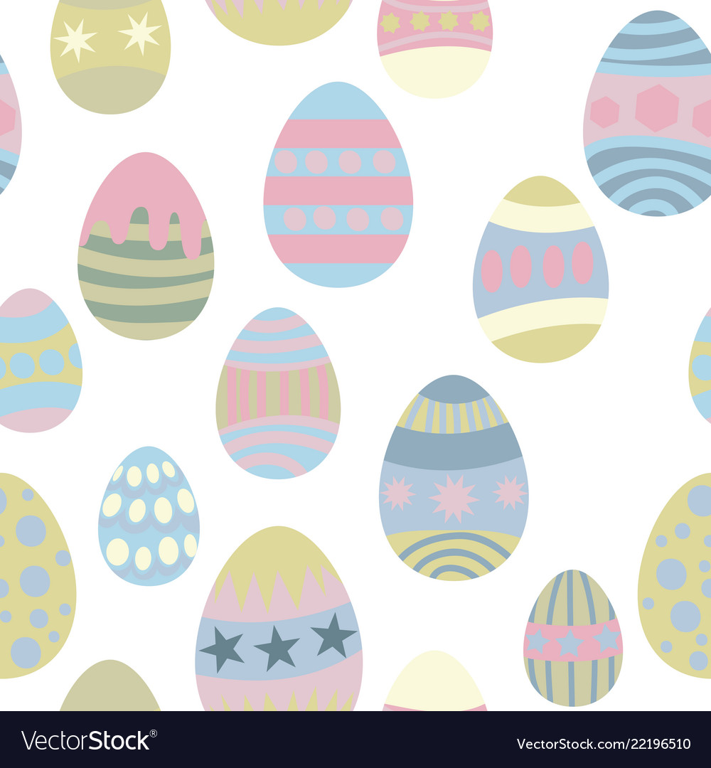 Seamless pattern for easter eggs