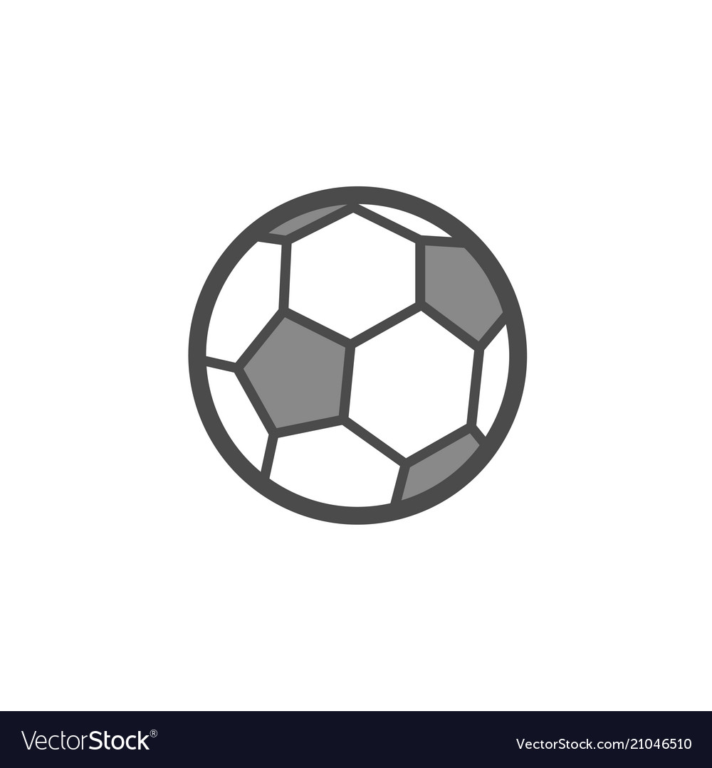 Soccer ball flat outline icon