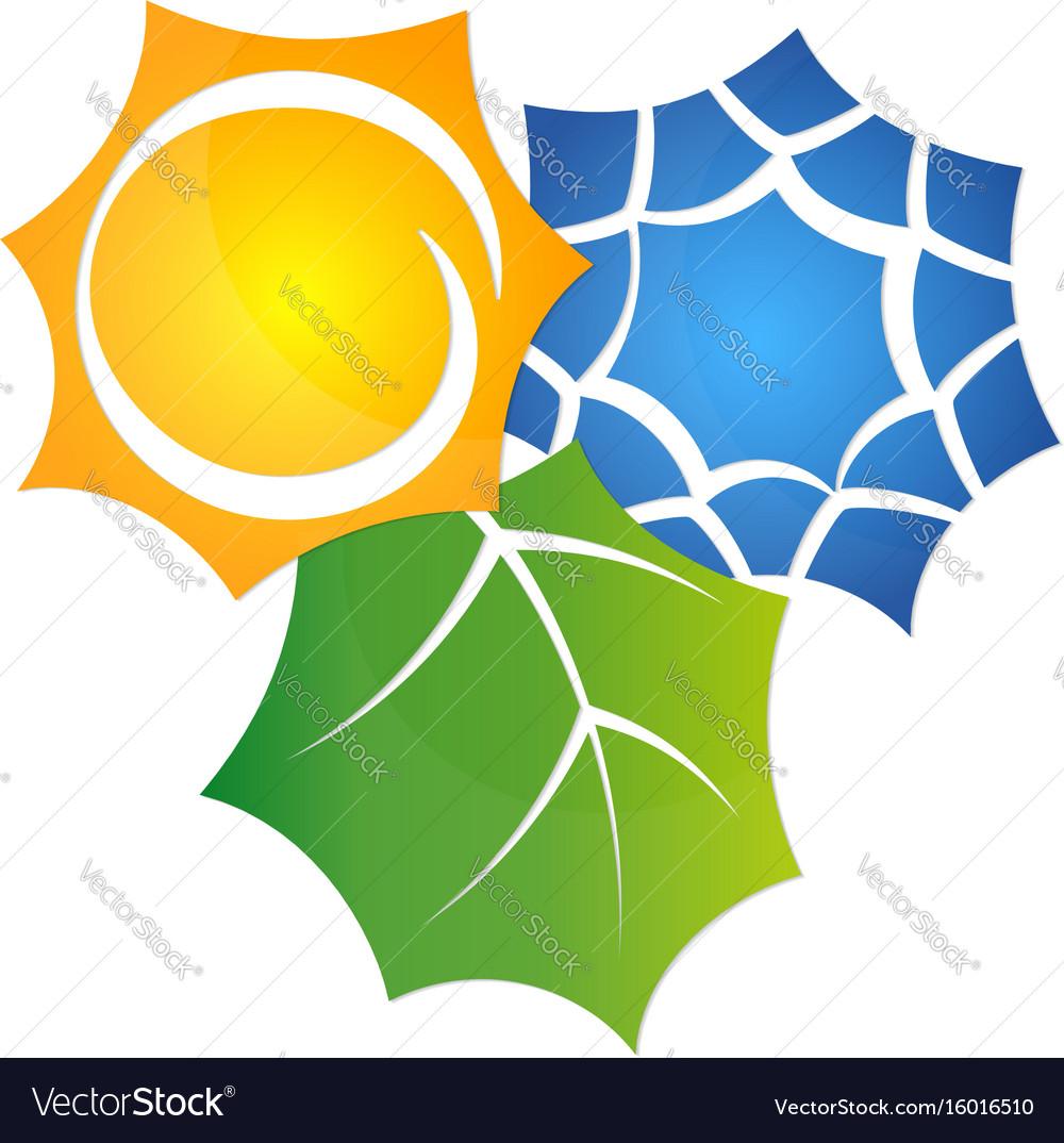 Symbol air conditioner eco vector image