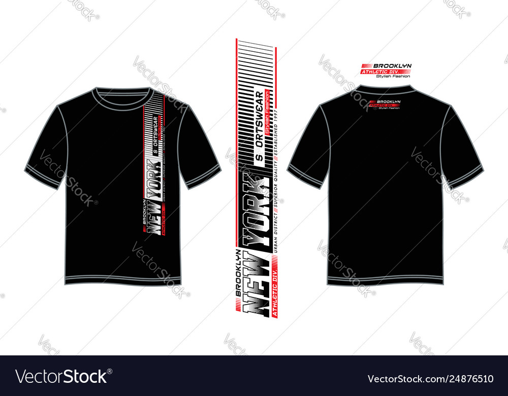 T Shirt New York Sportswear Typography Design Vector Image