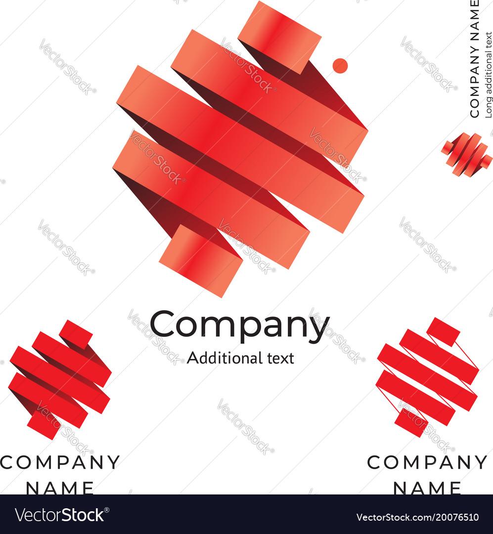 Tape abstract world logo design modern clean