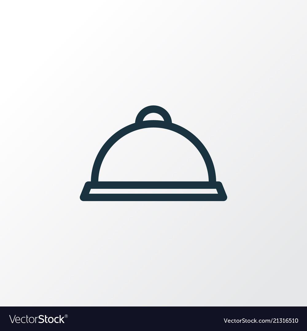 Tray icon line symbol premium quality isolated