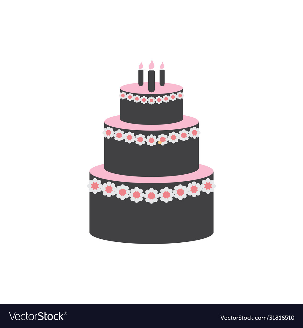 Wedding cake graphic design template isolated
