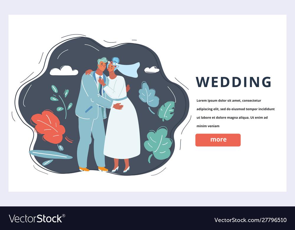 Wedding couple banner