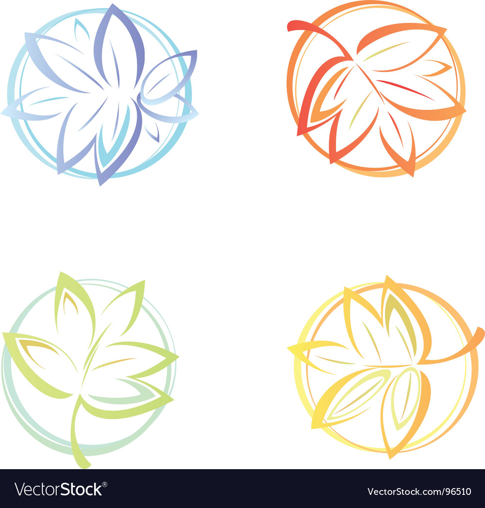 Winter spring summer autumn vector 96510 by rvika | Royalty Free ...