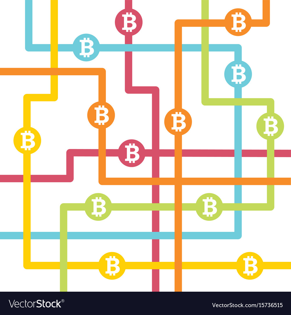 Bitcoin money with circles
