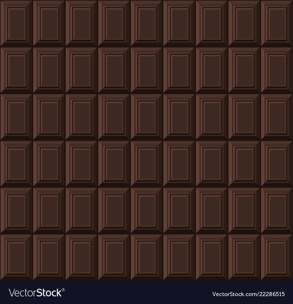 Black chocolate bar seamless background pattern