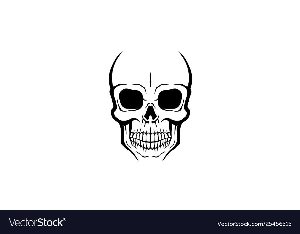 Creative skeleton skull logo design
