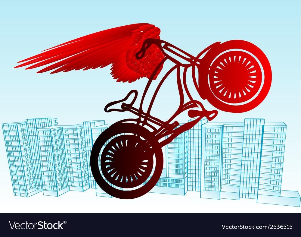 Cyclist urban vector image