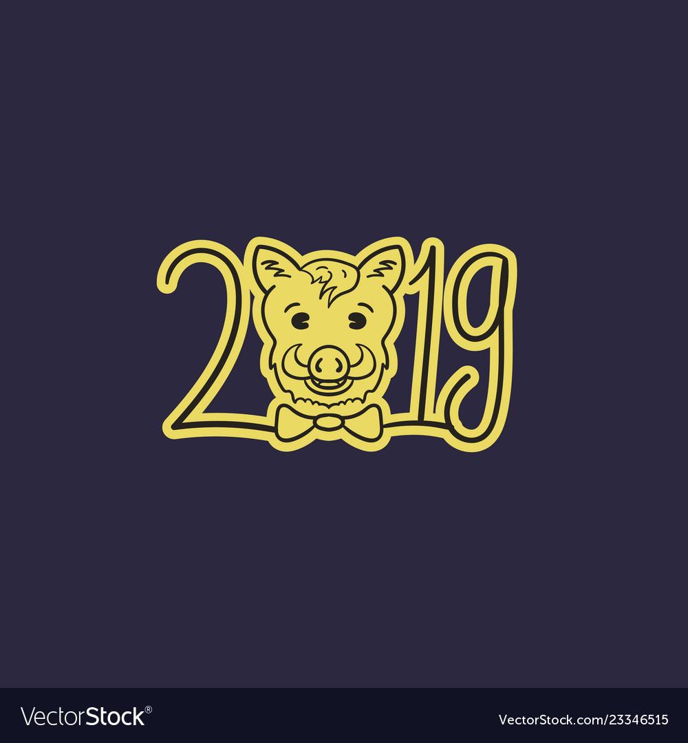 Happy new year boars year 2019
