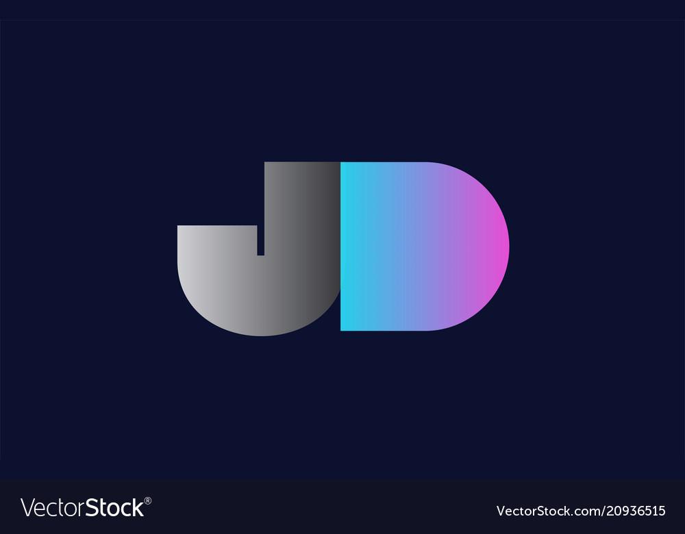 initial alphabet letter jd j d logo company icon vector image vectorstock