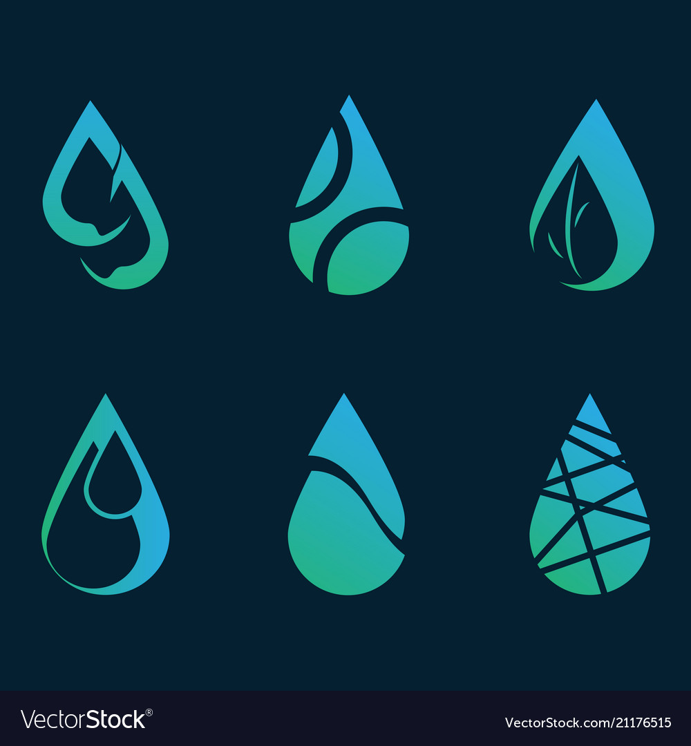 Logo water collection design graphic many style