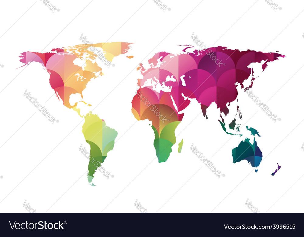 Mosaic world map